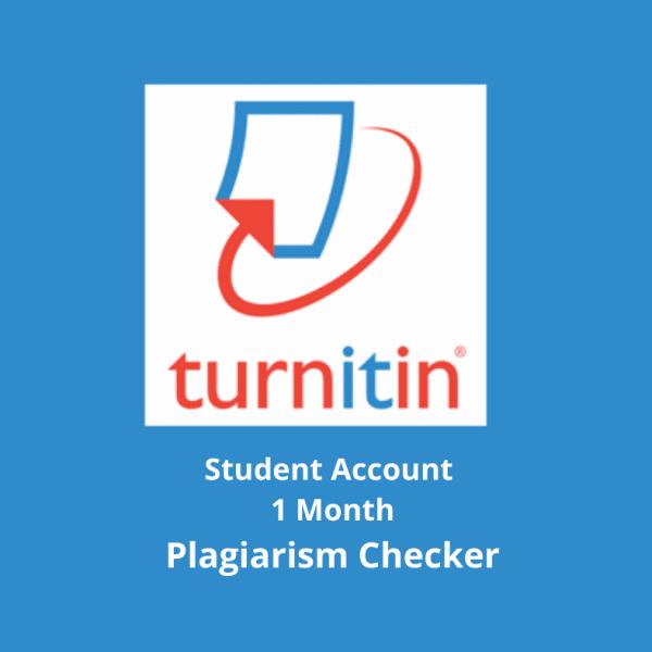 Turnitin Plagiarism Checker account